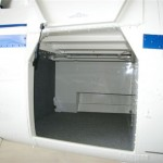Robinson R66 storage compartment