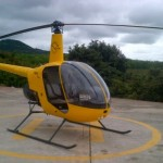 Yellow 1988 Robinson R22 helicopter Beta