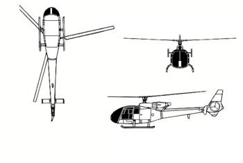 AEROSPATIALE WESTLAND GAZELLE Helicopter
