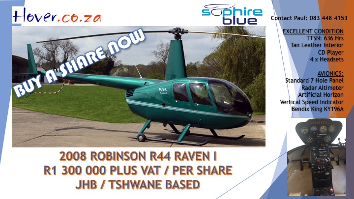 Share for sale in Robinson R44