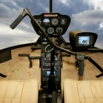 Robinson R66 helicopter cockpit