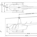 Robinson R66 external dimensions